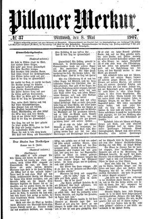 Pillauer Merkur vom 08.05.1907