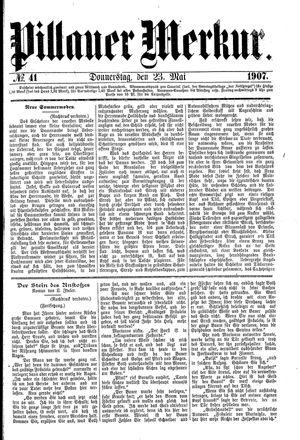 Pillauer Merkur on May 23, 1907