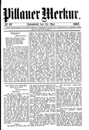 Pillauer Merkur vom 25.05.1907
