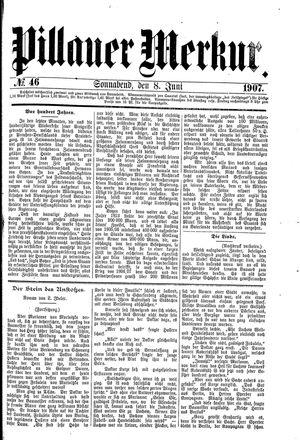 Pillauer Merkur vom 08.06.1907