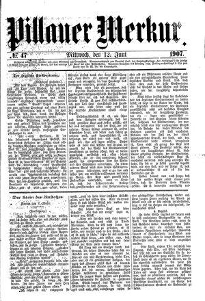 Pillauer Merkur vom 12.06.1907