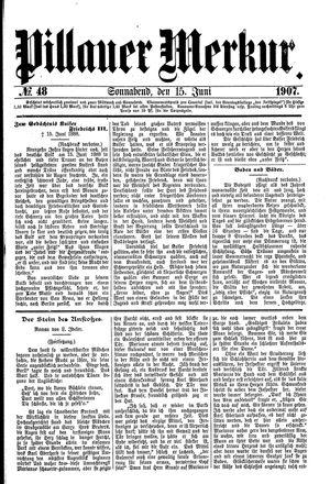 Pillauer Merkur vom 15.06.1907