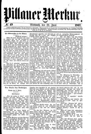 Pillauer Merkur vom 19.06.1907