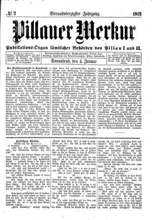 Pillauer Merkur vom 04.01.1913