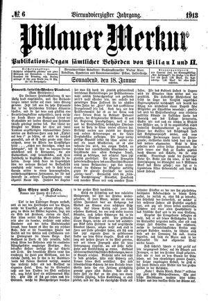 Pillauer Merkur vom 18.01.1913