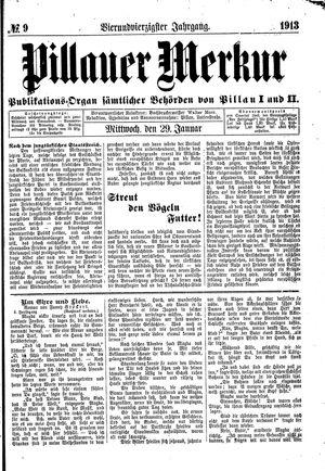 Pillauer Merkur vom 29.01.1913
