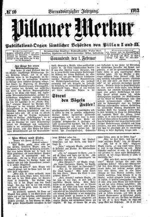 Pillauer Merkur vom 01.02.1913