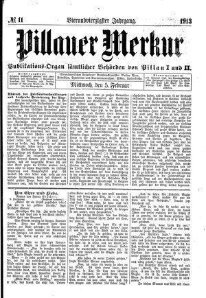 Pillauer Merkur vom 05.02.1913