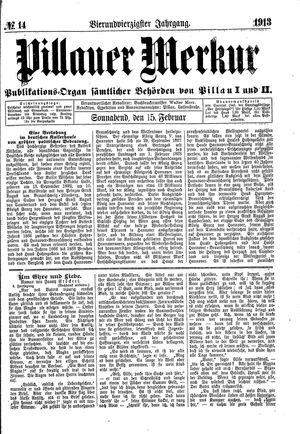 Pillauer Merkur vom 15.02.1913