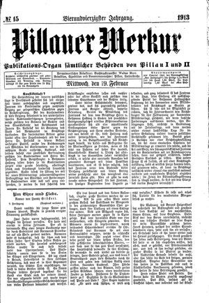Pillauer Merkur vom 19.02.1913