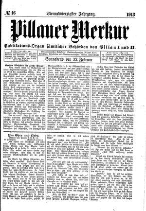 Pillauer Merkur vom 22.02.1913