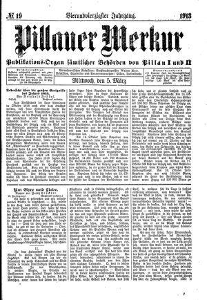 Pillauer Merkur vom 05.03.1913