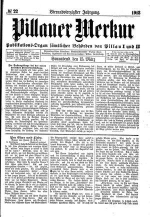 Pillauer Merkur vom 15.03.1913