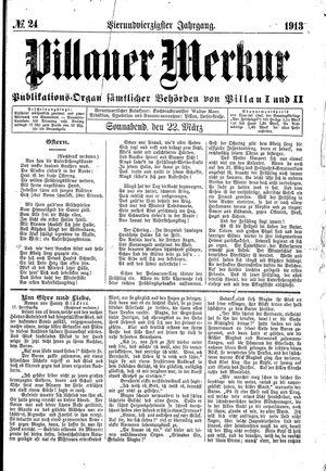 Pillauer Merkur vom 22.03.1913