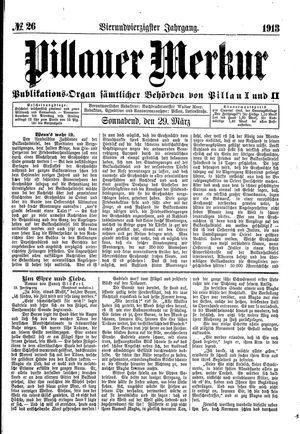 Pillauer Merkur vom 29.03.1913
