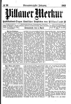 Pillauer Merkur vom 05.04.1913
