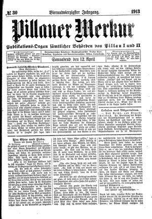 Pillauer Merkur vom 12.04.1913