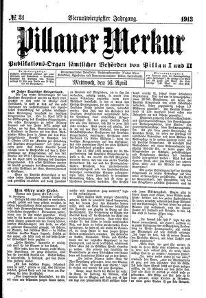 Pillauer Merkur vom 16.04.1913