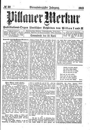 Pillauer Merkur vom 19.04.1913