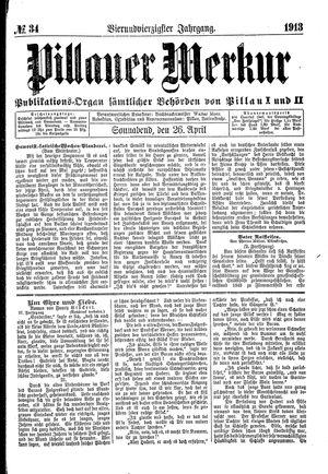 Pillauer Merkur vom 26.04.1913