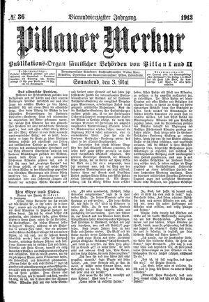 Pillauer Merkur vom 03.05.1913