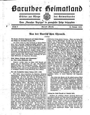 Baruther Heimatland vom 16.01.1933