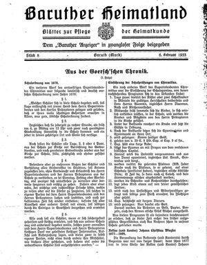 Baruther Heimatland vom 06.02.1933