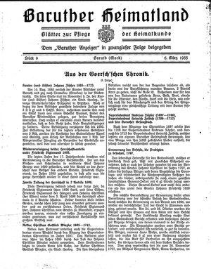 Baruther Heimatland vom 06.03.1933