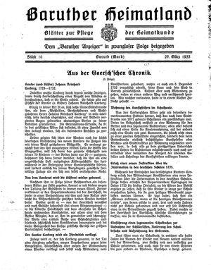 Baruther Heimatland vom 27.03.1933