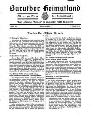 Baruther Heimatland vom 19.06.1933