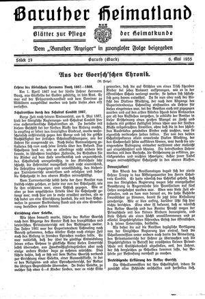 Baruther Heimatland vom 06.05.1935