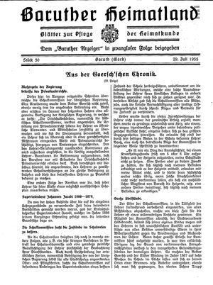 Baruther Heimatland vom 29.07.1935