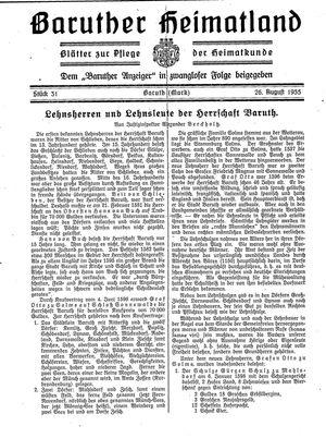 Baruther Heimatland vom 26.08.1935