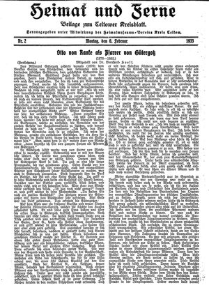 Heimat und Ferne vom 06.02.1933