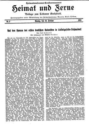 Heimat und Ferne vom 20.02.1933