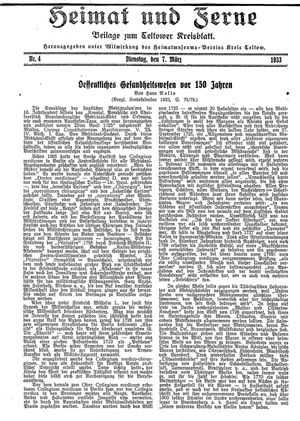 Heimat und Ferne vom 07.03.1933