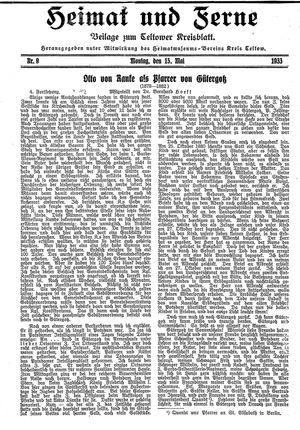 Heimat und Ferne vom 15.05.1933