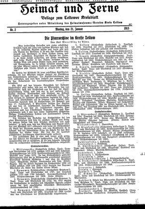 Heimat und Ferne vom 21.01.1935