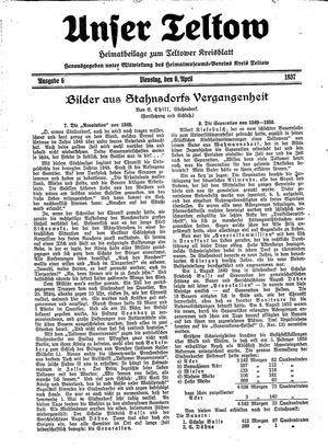 Unser Teltow vom 06.04.1937
