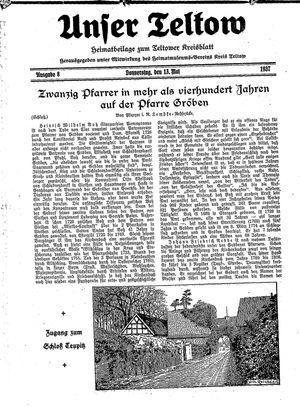 Unser Teltow vom 13.05.1937