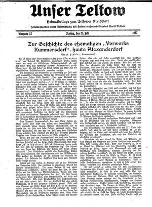 Unser Teltow vom 23.07.1937