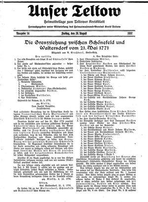 Unser Teltow vom 20.08.1937