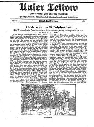 Unser Teltow vom 22.12.1937