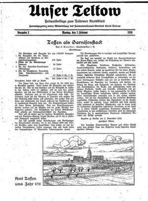 Unser Teltow vom 07.02.1938