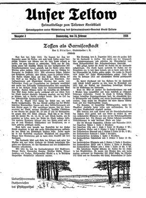 Unser Teltow on Feb 24, 1938