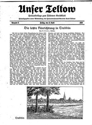 Unser Teltow vom 22.04.1938