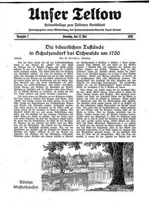 Unser Teltow vom 17.05.1938