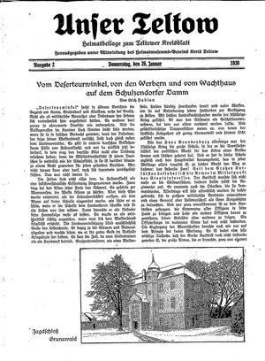 Unser Teltow on Jan 26, 1939