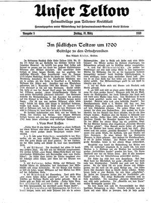 Unser Teltow vom 31.03.1939
