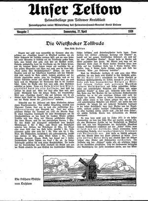 Unser Teltow vom 27.04.1939